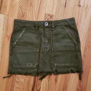 Free People Military Inspired Mini Skirt